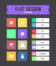 Flat ui icons special for web and mobile applications Royalty Free Stock Image