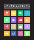 Flat ui icons special for web and mobile applications Stock Photo