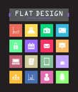 Flat ui icons special for web and mobile applications Royalty Free Stock Photos