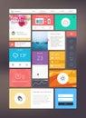 Flat ui kit for responsive web design