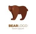 Flat vector bear logo