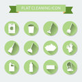 Flat vector color set of icons house cleaning and laundry vect illustration Royalty Free Stock Photo
