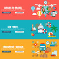 Flat vector concept journey, airline to travel, sea travel, website travel companies