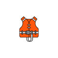 Flat vector icon life jacket