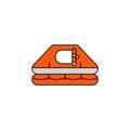 Flat vector icon Life raft