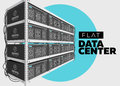 Flat Vector Isolated Illustration of Data Center in Perspective.