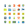 Flat vector mobile web app interface icon pack: upload download Royalty Free Stock Photo