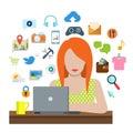 Flat Vector Social Media Inter...
