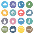 Flat Weather Icon Set Royalty Free Stock Photo