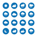 Flat weather icons collection of Royalty Free Stock Photo
