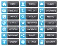 Flat web buttons clean blue and dark Royalty Free Stock Photo