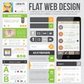 Flat web design for applications or site templates can be used for sidebar Royalty Free Stock Images