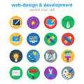Flat web design and development icon set