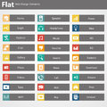 Flat web design elements buttons icons templates for website in editable vector format Stock Photos