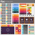 Flat web design elements buttons icons templates for website in editable vector format Royalty Free Stock Photography