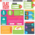 Flat web design elements templates for website Stock Photo