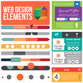 Flat web design elements templates for website Royalty Free Stock Photo