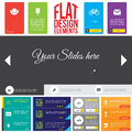 Flat web design elements templates for website Royalty Free Stock Images