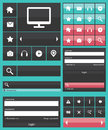 Flat web elements icons Royalty Free Stock Images