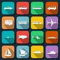 Transportation web icons vector set Royalty Free Stock Photo