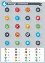 Flat webpage elements icon set of the simple icons Royalty Free Stock Photography