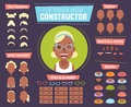 Flat women avatar constructor for generating characters