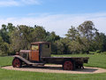 Flatbed truck old parked in a winery in amador county northern california Stock Photography