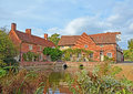 Flatford mill suffolk uk site john constables famous painting hay wain Royalty Free Stock Photo