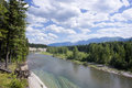 Flathead river in glacier national park in montana Royalty Free Stock Images