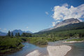 Flathead river north fork of the in glacier national park montana Royalty Free Stock Images