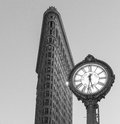 Flatiron building and fifth avenue clock new york new york january buliding completed in it is considered to be one of the first Stock Images