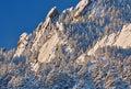 Flatirons on Bear Peak Royalty Free Stock Photo