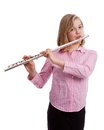 The flautist. Royalty Free Stock Images