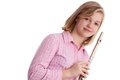 The flautist. Royalty Free Stock Photos