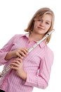 The flautist. Royalty Free Stock Photography