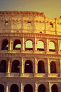 Flavian Amphitheatre or Colosseum in Rome Royalty Free Stock Photo
