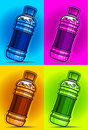 Flavored drinks in color background Royalty Free Stock Photos