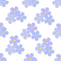 Flax flowers seamless pattern. Cosmetics, medical plant. Natural nutrition