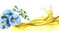 Flax oil wave