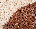 Flax and sesame Royalty Free Stock Photography