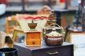Flea-market in Brugge, Belgium Royalty Free Stock Photo