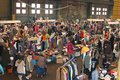 Flea market in the ijhallen in amsterdam in the ne people are looking for secondhand stuff at an old factory netherlands Stock Photo