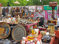 Flea market mauerpark berlin booth at the famous taking place every sunday germany Stock Images