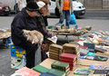 Flea market with old books Royalty Free Stock Photography