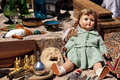 Flea market scene on a Royalty Free Stock Image
