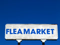 Flea Market Sign Royalty Free Stock Photo