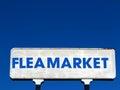 Flea Market Sign Royalty Free Stock Photo