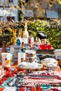 Flea market stand Royalty Free Stock Photo