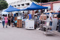 Flea market zhuhai china june in zhuhai shangchong street in china Stock Images