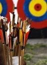 Flechas y blanco Imagen de archivo libre de regalías